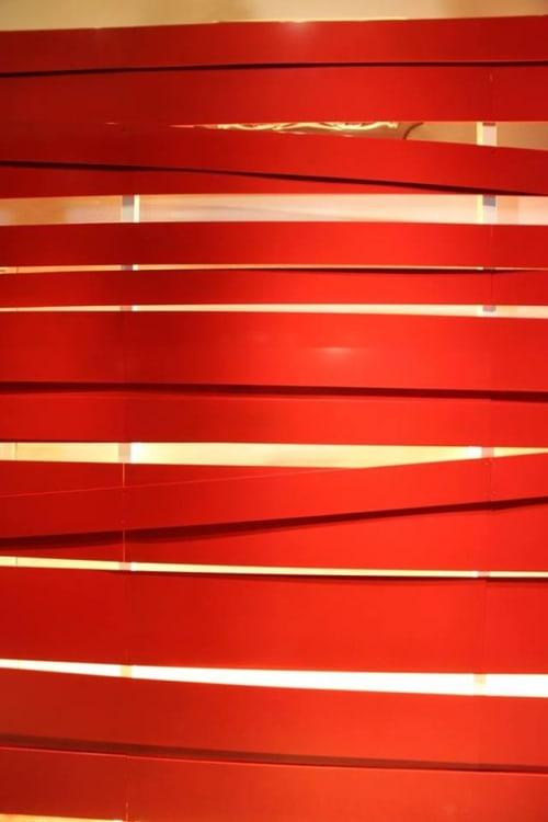Wall Treatments by Nema Workshop seen at POV, Washington - Red Tape Wall