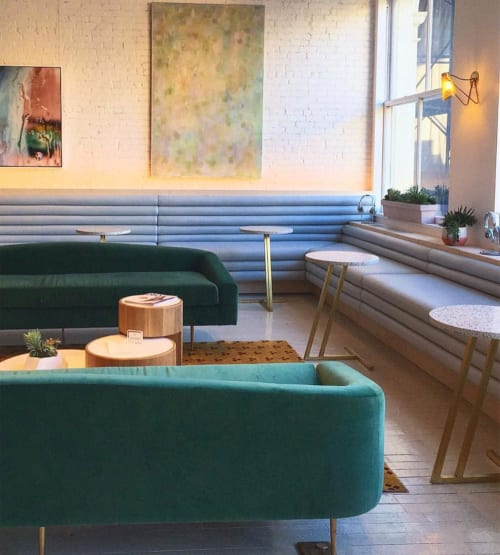 Couches & Sofas by Bakarian Studio seen at The Wing SoHo, New York - Vivi Sofa in Emerald