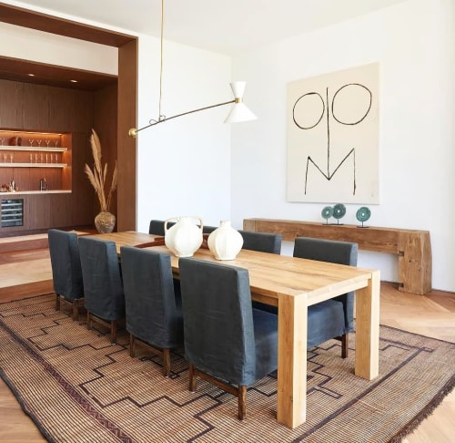 Rugs by Mehraban seen at Private Residence, Los Angeles - Vintage African Tuareg Mat
