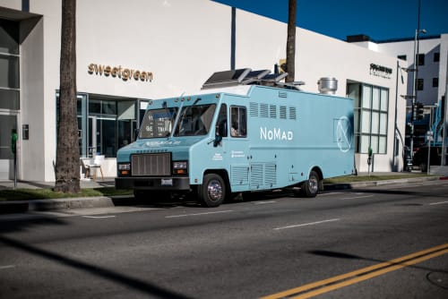 Tableware by Be-Poles seen at 7th St & Olive St, Los Angeles, Los Angeles - The Nomad Food Truck in Los Angeles