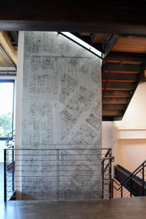 Wall Treatments by Alexis Laurent seen at The Pearl, San Francisco - Elevator Map