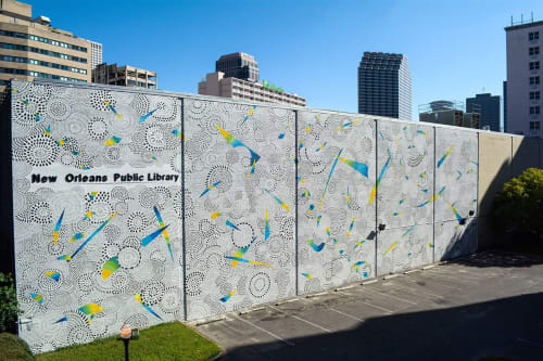 Street Murals by Milagros Art Collective seen at New Orleans Public Library, New Orleans - Mural