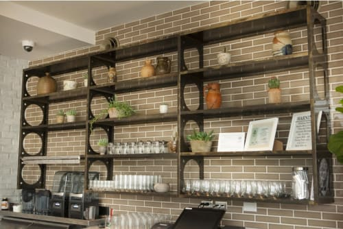 Tiles by Fireclay Tile seen at Cafe Gratitude San Diego, San Diego - Handmade Tiles