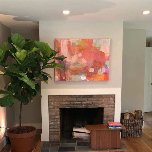 Paintings by Kari Kroll seen at Private Residence, Egremont - Abstract Painting
