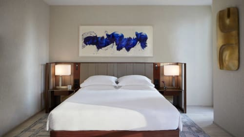 Paintings by James Nares seen at Park Hyatt New York, New York - West on Sunrise