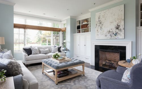 Interior Design by Emily Wignall seen at Private Residence, Seattle - Broadmoor Living Room & Dining Room