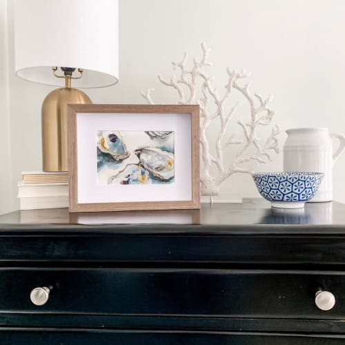 Paintings by Stephie Jones Art seen at Private Residence, Virginia Beach - Oyster Shell Painting