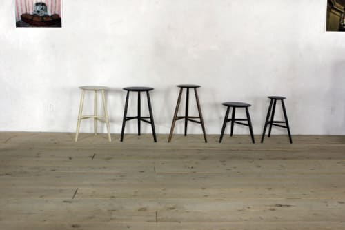 Chairs by Sawkille Co seen at Rivertown Lodge, Hudson - Stools