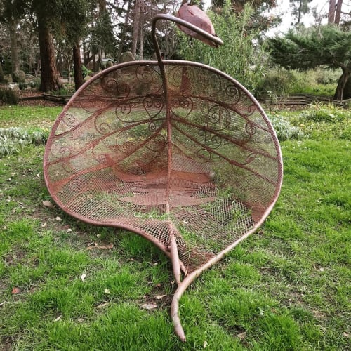 Public Sculptures by Karen Cusolito seen at The Gardens at Lake Merritt, Oakland - Tumble Leaf