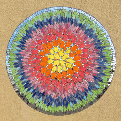 Public Mosaics by Rachel Rodi seen at Parchester Community Center, Richmond, CA, Richmond - Radiating Mosaic Mural