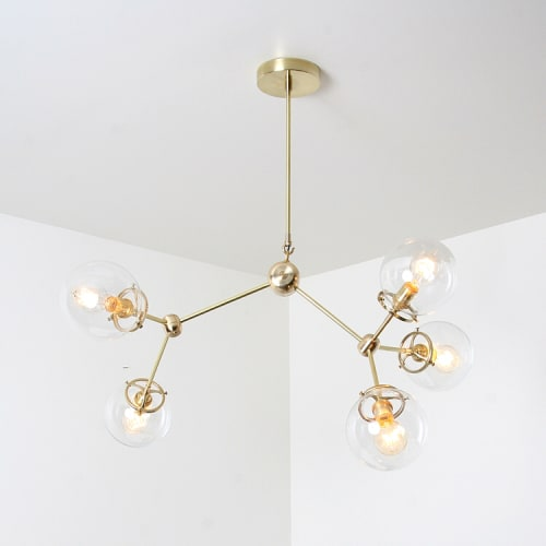 Chandeliers by studioPGRB at India Rose Cosmeticary, Vancouver - Elemental No.5