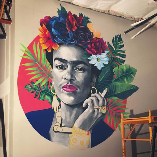 Murals by Jessica Gonzales Art seen at American Eat Company, Tucson - Frida