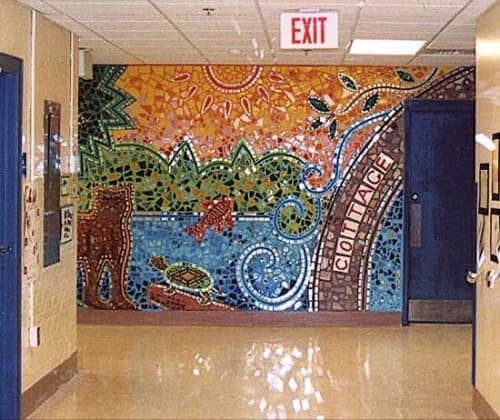 Public Mosaics by Joshua Winer seen at Cottage Street School, Sharon - In Our Own Backyard