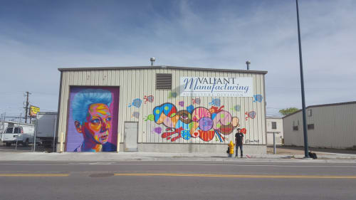 Murals by Kwue Molly seen at Valiant Manufacturing, Denver - Valiant