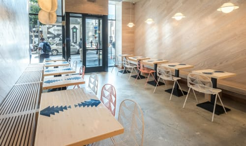 Tables by Roaming Roots at Sweetfin Poké, 7th Street, Los Angeles, CA, Los Angeles - Custom Tables