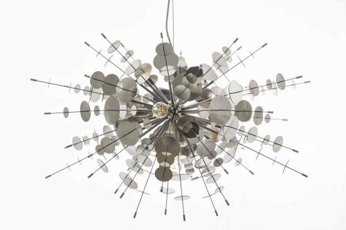 Chandeliers by Avram Rusu Studio seen at Private Residence, Moscow - Confetti Metallic Chandelier