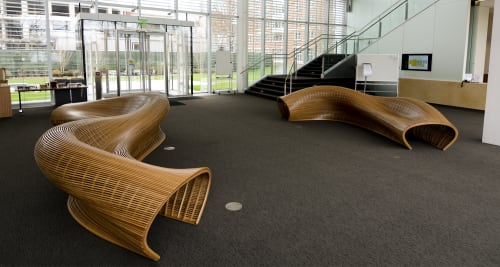 Benches & Ottomans by Matthias Pliessnig seen at Harvard Business School, Boston - Sinuo 7m and Eurus