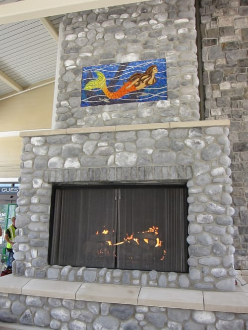 Public Mosaics by Rachel Rodi seen at Norfolk Premium Outlets, Norfolk, VA, Norfolk - Mermaid Mosaic Mural