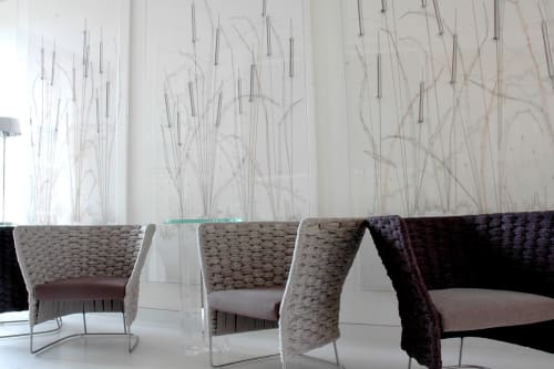 Wall Treatments by Debbie Smyth seen at Coworth Park, Sunningdale - Foyer artworks