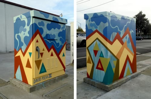Murals by David Polka seen at CostaCo's Restaurant Equipment & Supplies, San Leandro - San Leandro Utility Box
