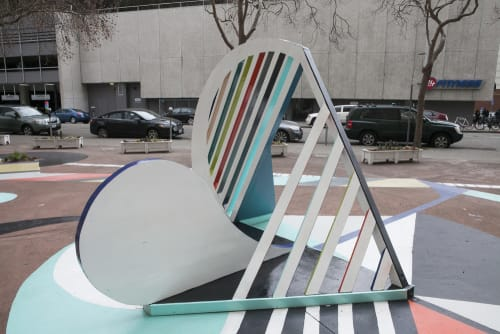 Public Sculptures by Brett Flanigan seen at 21st And Webster St. Plaza, Oakland - Moments