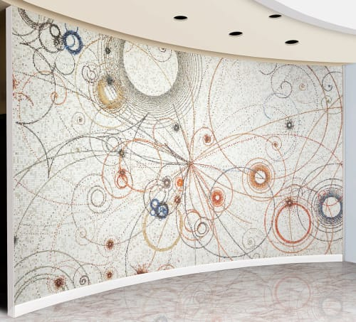 Murals by Carter Hodgkin seen at Neiman Marcus, Beverly Hills, Beverly Hills - Mosaic - Electromagnetic Division