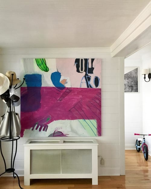 "Paintings by Sarah Boyts Yoder seen at Private Residence, Denver - ""Under The Purple Table"""