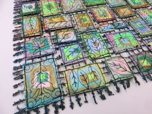 Wall Hangings by Susan Lenz at Mouse House Inc, Columbia - Stained Glass Fiber Series