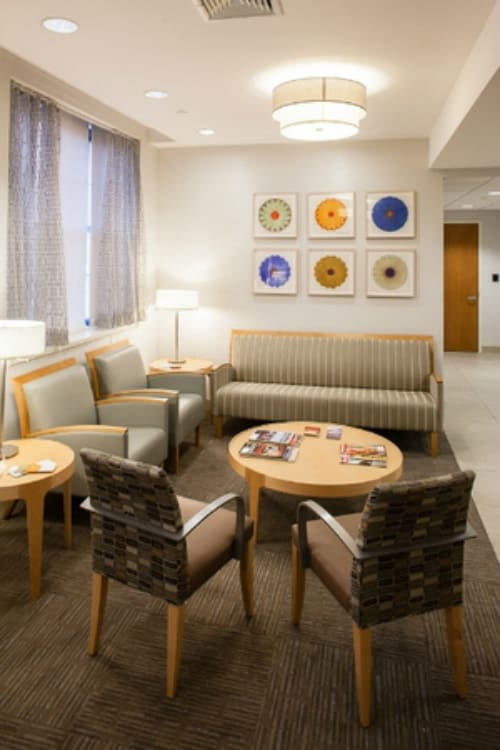 Paintings by Mary Judge seen at NYU Langone Medical Center, New York - Pigment Drawings