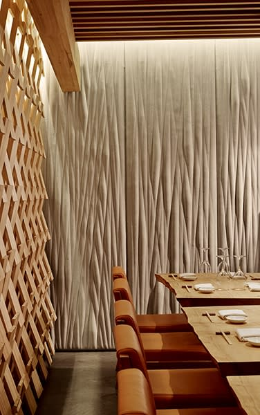 Wall Treatments by Matsys seen at Roka Akor San Francisco, San Francisco - Textured Art Wall