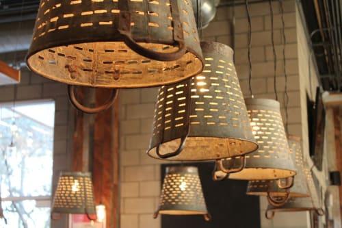 Lighting by Arika Jacobs Design Studio seen at Sage Vegan Bistro - Culver City, Culver City - Custom Light Fixtures