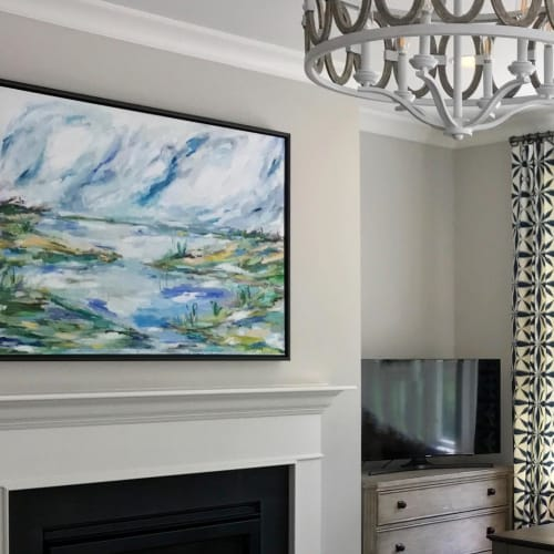 Paintings by Hello Allison Art seen at Private Residence, Charlotte - Abstract Landscape