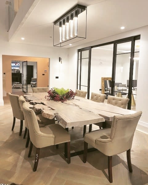 Tables by Handmade in Brighton seen at Private Residence, Altrincham - Scottish Elm Table