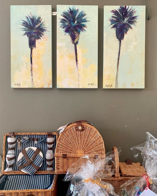 Paintings by Kathleen Keifer seen at Barsha Wines And Spirits, Manhattan Beach - Palm Trees painting