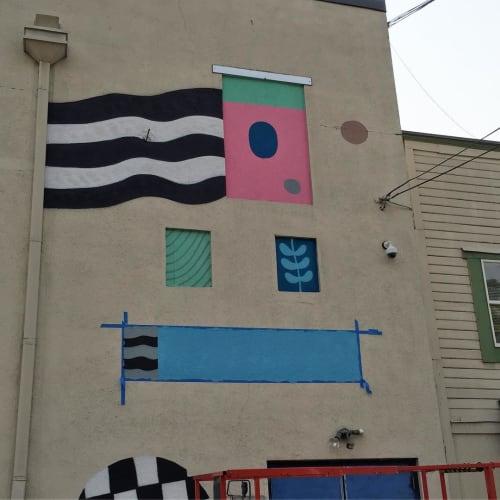 Murals by Ryan Bubnis Studio seen at Aladdin Theater, Portland - Mural