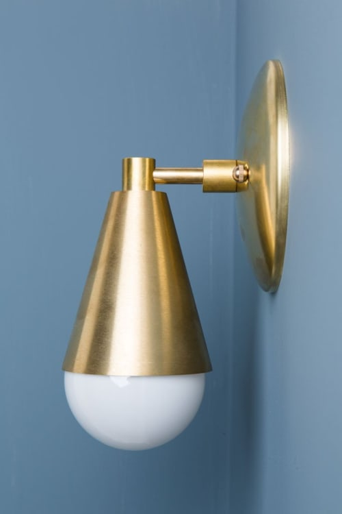 Sconces by Jones County Road at Private Residence, Brooklyn, NY, Brooklyn - Uptown Brass Sconce