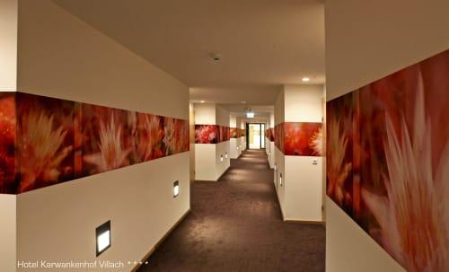 Photography by Rica Belna at Thermenhotel Karawankenhof, Villach - Rica Belna - Modern, Floral Hallways