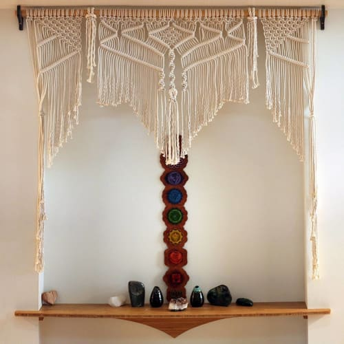 Macrame Wall Hanging by Free Creatures seen at Coconut Bliss, Eugene - Wall Hanging Macrame
