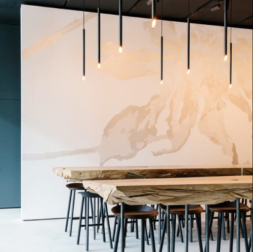 Pendants by Boyd Lighting at In Situ, San Francisco - Custom Tube Pendants