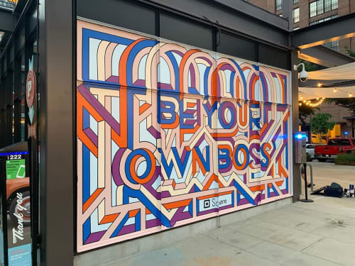 Murals by Kate Lynn Lewis seen at Ponce City Market, Atlanta - Square mural