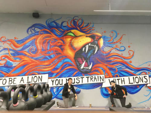 Murals by Tim Carmany seen at The Warehouse Training and Performance, North Canton - Mural