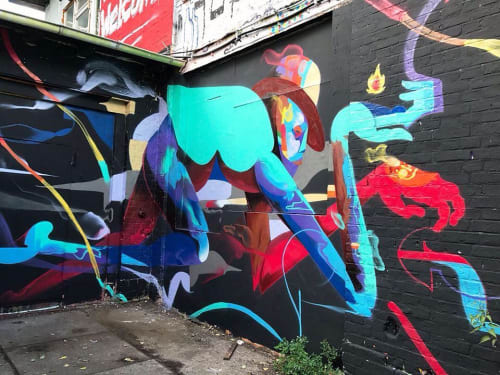 Murals by WESR | Danny Figueroa seen at Berlin, Berlin - The Runner Mural