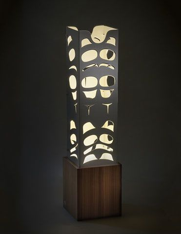 "Lamps by Sabina Hill seen at Skwachàys Lodge, Vancouver - ""Carved"" Totem"