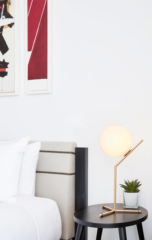 Lighting by Michael Anastassiades at The William Vale, Brooklyn - IC Lights T Modern Table Lamp