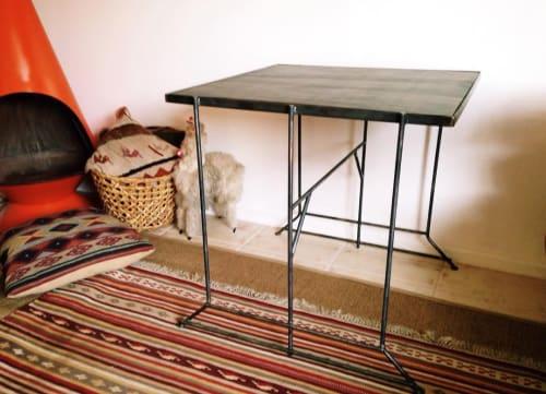 Tables by Mojave Moon Design seen at Pioneertown Motel, Pioneertown - Steel Table