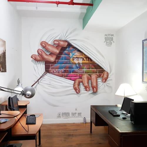Murals by Braga Last1 seen at NY Moore Hostel, Brooklyn - Mural