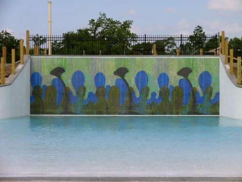 Public Mosaics by Andrea Fuhrman seen at Kenwood Cove Aquatic Park, Salina - Splash