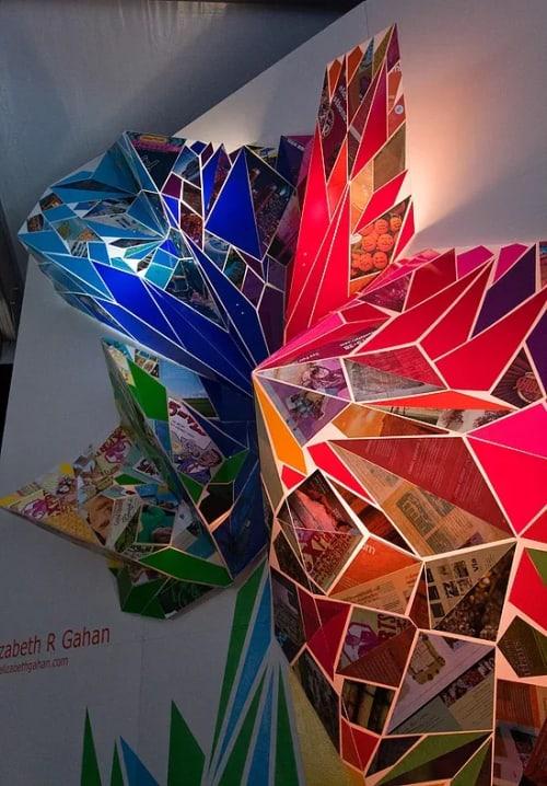 Sculptures by Elizabeth Gahan seen at University of Washington, Seattle - Metamorphosis