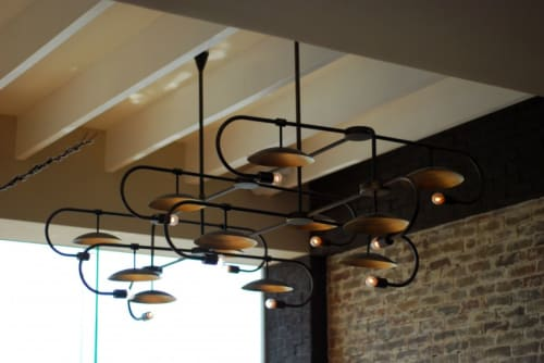 Pendants by deLighting Art seen at BLT Steak - Bulb and Saucer