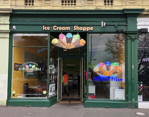 Lighting by Carla O'Brien at The Ice Cream Shoppe, Williamstown - Ice Cream Shoppe on Nelson Place Williamstown